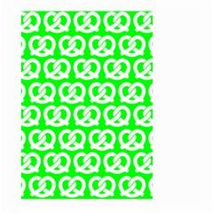 Neon Green Pretzel Illustrations Pattern Large Garden Flag (two Sides)