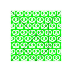 Neon Green Pretzel Illustrations Pattern Acrylic Tangram Puzzle (4  X 4 ) by creativemom