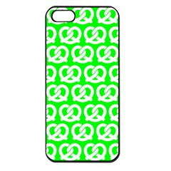 Neon Green Pretzel Illustrations Pattern Apple Iphone 5 Seamless Case (black) by creativemom