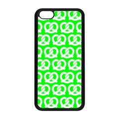 Neon Green Pretzel Illustrations Pattern Apple Iphone 5c Seamless Case (black) by creativemom