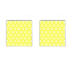 Yellow Pretzel Illustrations Pattern Cufflinks (square) by creativemom