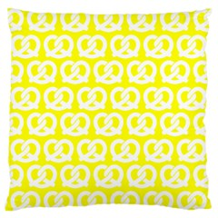 Yellow Pretzel Illustrations Pattern Standard Flano Cushion Cases (one Side)  by creativemom