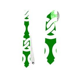 Green Pretzel Illustrations Pattern Neckties (two Side)