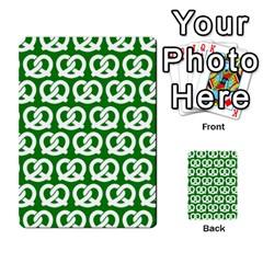 Green Pretzel Illustrations Pattern Multi Purpose Cards (rectangle)
