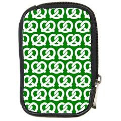 Green Pretzel Illustrations Pattern Compact Camera Cases by creativemom