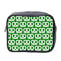 Green Pretzel Illustrations Pattern Mini Toiletries Bag 2 Side by creativemom