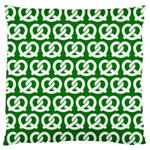Green Pretzel Illustrations Pattern Large Flano Cushion Cases (Two Sides)  Front