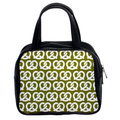 Olive Pretzel Illustrations Pattern Classic Handbags (2 Sides) by creativemom