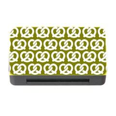 Olive Pretzel Illustrations Pattern Memory Card Reader With Cf