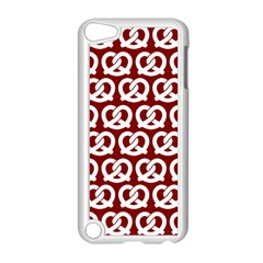 Red Pretzel Illustrations Pattern Apple iPod Touch 5 Case (White) by creativemom