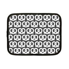 Gray Pretzel Illustrations Pattern Netbook Case (small)  by creativemom