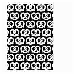 Black And White Pretzel Illustrations Pattern Small Garden Flag (two Sides) by creativemom