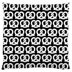 Black And White Pretzel Illustrations Pattern Standard Flano Cushion Cases (one Side)  by creativemom