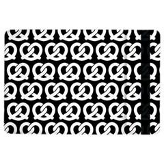 Black And White Pretzel Illustrations Pattern Ipad Air 2 Flip