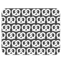 Gray Pretzel Illustrations Pattern Double Sided Flano Blanket (Medium)  by creativemom