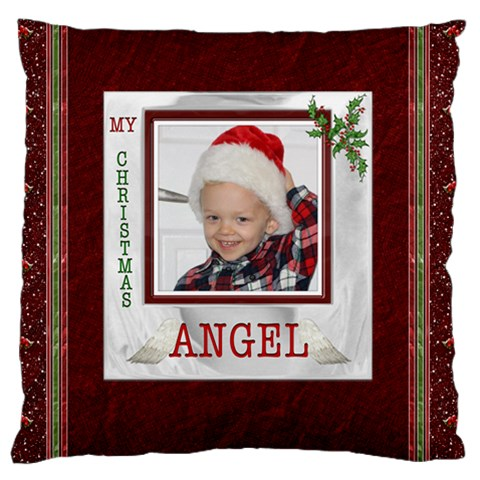 My Christmas Angel Flano Cushion Case By Lil Front