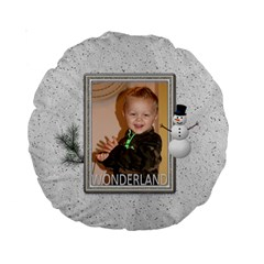 Let It Snow Premium Round Cushion By Lil    Standard 15  Premium Round Cushion    B4av63u8hsq5   Www Artscow Com Back