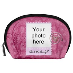 Pretty Pink Accessory Pouch By Lil    Accessory Pouch (large)   Mxm7ag9ttyy8   Www Artscow Com Front