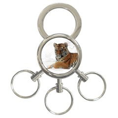 Tiger 2015 0101 3 Ring Key Chains by JAMFoto
