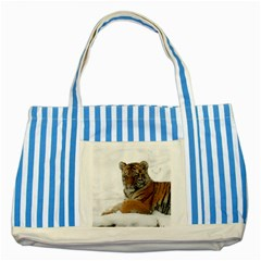 Tiger 2015 0101 Striped Blue Tote Bag
