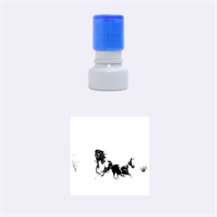 Beautiful Horses Running In A River Rubber Round Stamps (small) by FantasyWorld7