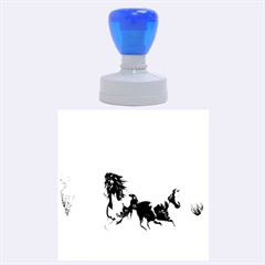 Beautiful Horses Running In A River Rubber Round Stamps (large) by FantasyWorld7