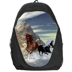 Beautiful Horses Running In A River Backpack Bag by FantasyWorld7