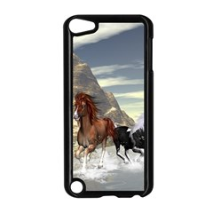 Beautiful Horses Running In A River Apple Ipod Touch 5 Case (black) by FantasyWorld7
