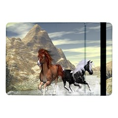 Beautiful Horses Running In A River Samsung Galaxy Tab Pro 10 1  Flip Case by FantasyWorld7