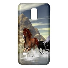 Beautiful Horses Running In A River Galaxy S5 Mini by FantasyWorld7