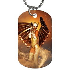 Beautiful Angel In The Sky Dog Tag (one Side) by FantasyWorld7