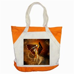 Beautiful Angel In The Sky Accent Tote Bag  by FantasyWorld7