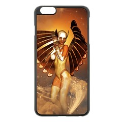 Beautiful Angel In The Sky Apple Iphone 6 Plus/6s Plus Black Enamel Case by FantasyWorld7