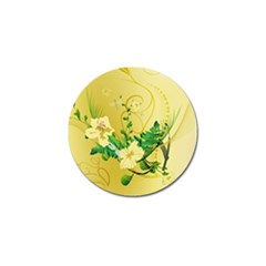 Wonderful Soft Yellow Flowers With Leaves Golf Ball Marker (10 Pack) by FantasyWorld7
