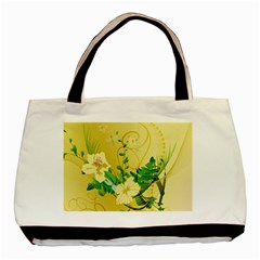 Wonderful Soft Yellow Flowers With Leaves Basic Tote Bag  by FantasyWorld7