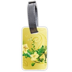 Wonderful Soft Yellow Flowers With Leaves Luggage Tags (two Sides) by FantasyWorld7