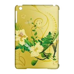 Wonderful Soft Yellow Flowers With Leaves Apple Ipad Mini Hardshell Case (compatible With Smart Cover) by FantasyWorld7