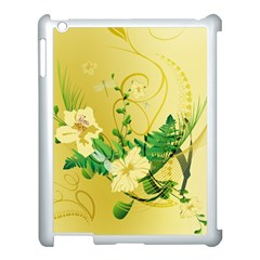 Wonderful Soft Yellow Flowers With Leaves Apple Ipad 3/4 Case (white) by FantasyWorld7