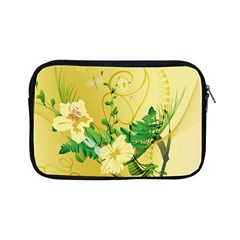 Wonderful Soft Yellow Flowers With Leaves Apple Ipad Mini Zipper Cases by FantasyWorld7
