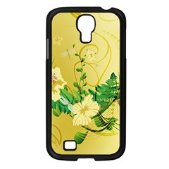 Wonderful Soft Yellow Flowers With Leaves Samsung Galaxy S4 I9500/ I9505 Case (black) by FantasyWorld7