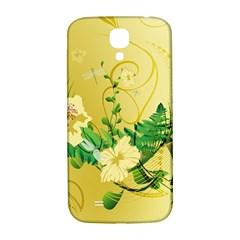 Wonderful Soft Yellow Flowers With Leaves Samsung Galaxy S4 I9500/i9505  Hardshell Back Case by FantasyWorld7