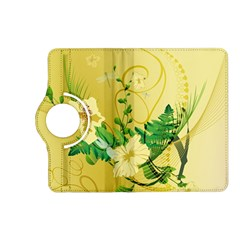 Wonderful Soft Yellow Flowers With Leaves Kindle Fire Hd (2013) Flip 360 Case