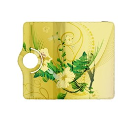 Wonderful Soft Yellow Flowers With Leaves Kindle Fire HDX 8.9  Flip 360 Case by FantasyWorld7