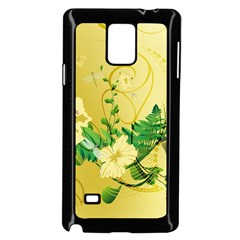 Wonderful Soft Yellow Flowers With Leaves Samsung Galaxy Note 4 Case (Black) by FantasyWorld7