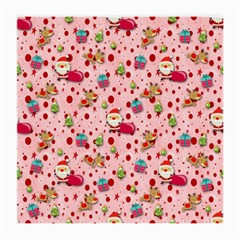 Red Christmas Pattern Medium Glasses Cloth (2 Side) by KirstenStar
