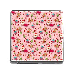 Red Christmas Pattern Memory Card Reader (square) by KirstenStar