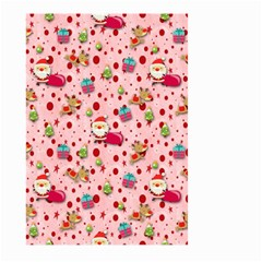 Red Christmas Pattern Large Garden Flag (Two Sides) by KirstenStar