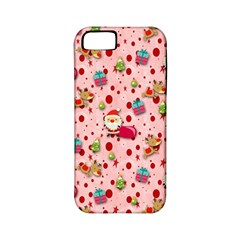 Red Christmas Pattern Apple Iphone 5 Classic Hardshell Case (pc+silicone) by KirstenStar