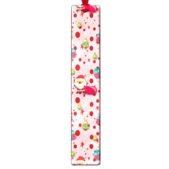 Red Christmas Pattern Large Book Marks by KirstenStar