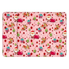 Red Christmas Pattern Samsung Galaxy Tab 8.9  P7300 Flip Case by KirstenStar